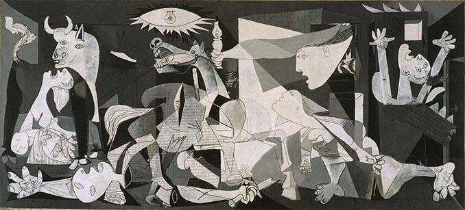Guernica de Pablo Picasso expuesto en el Museo Reina Sofía - La Llave de Madrid